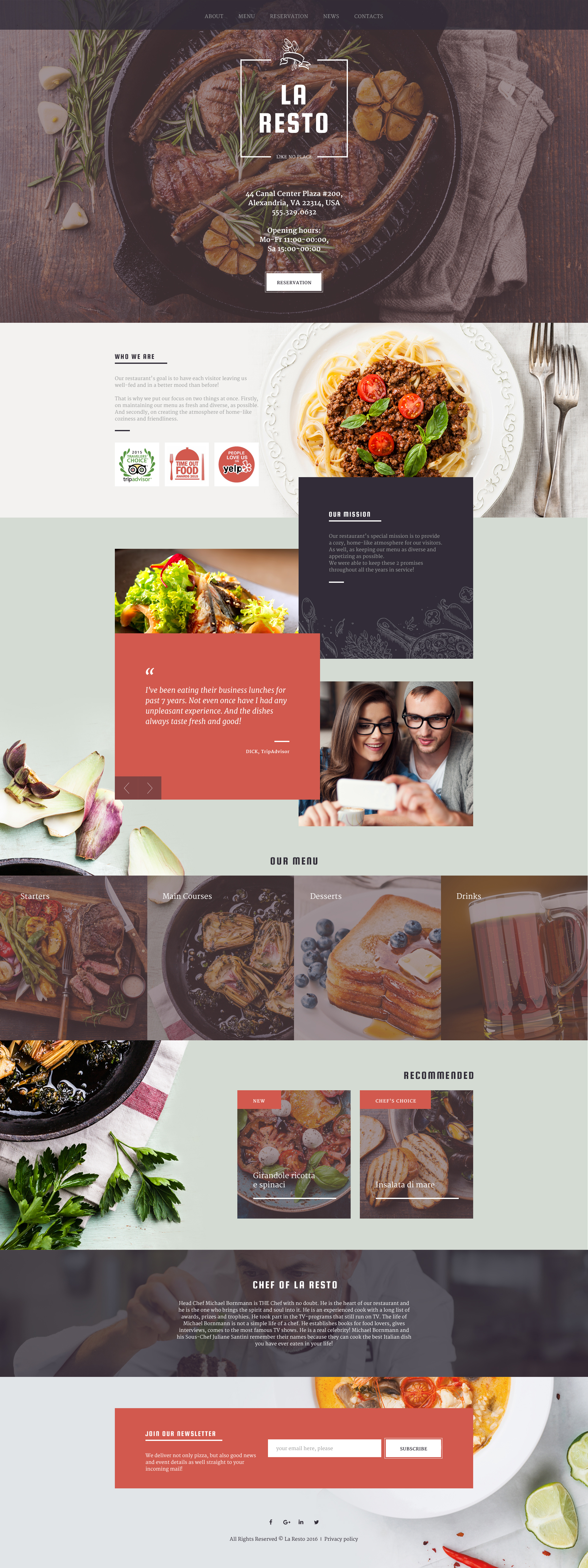 Cafe And Restaurant Templates Archives Zemez Html