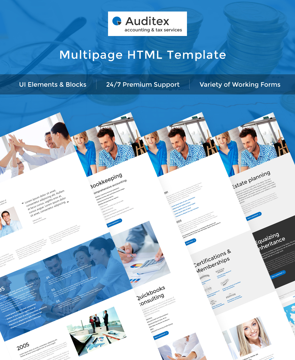 Web Development Templates Archives Page Of Zemez HTML - Tax website templates