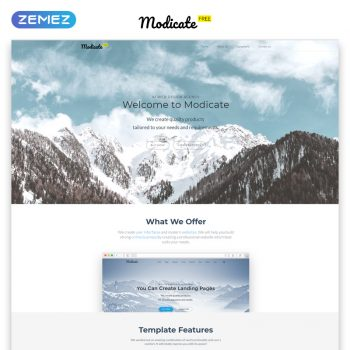 Zemez HTML templates for better website building