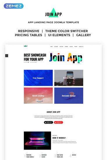 Join App App Landing Page Joomla Template Zemez Joomla