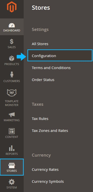 """Stores > Settings > Configuration"""" width=""""373″ height=""""770″></a></p><p><strong>2.</strong> Click <b>Customer Configuration </b>under the <b>Customers </b>tab.</p><p><a href="""