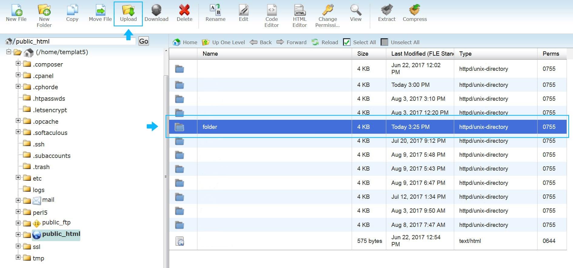 Uploading and Unzipping Files (cPanel) - Zemez Magento