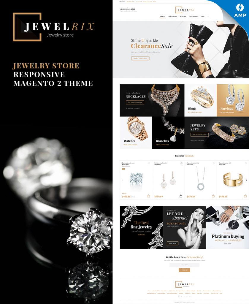 Jewelrix - Jewelry Store Magento 2 Theme with AMP