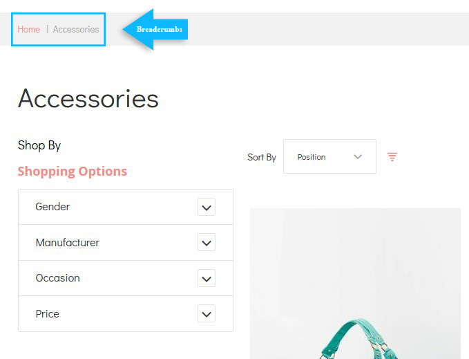magento checkout breadcrumbs