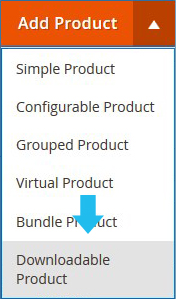 choose the downloadable product