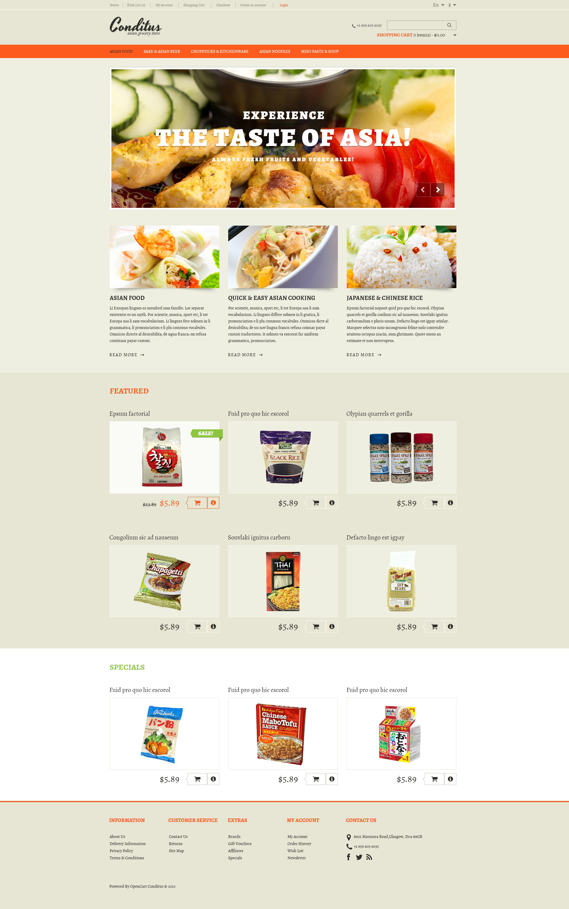 Asian restaurant templates archives zemez opencart for Opencart bookstore template