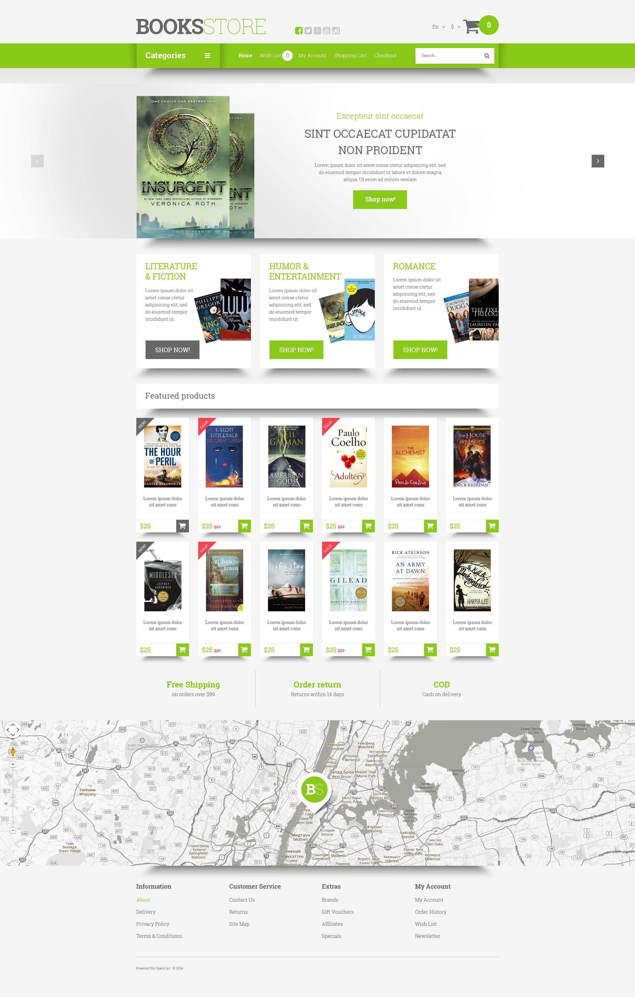 Book Store Templates Archives Zemez Opencart