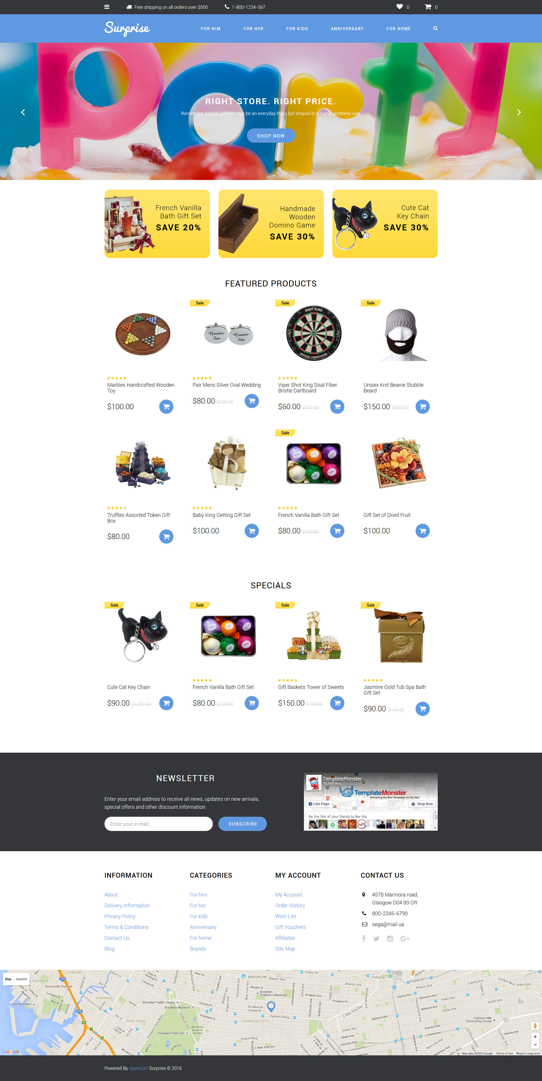 Gifts Store Templates Archives - Zemez OpenCart