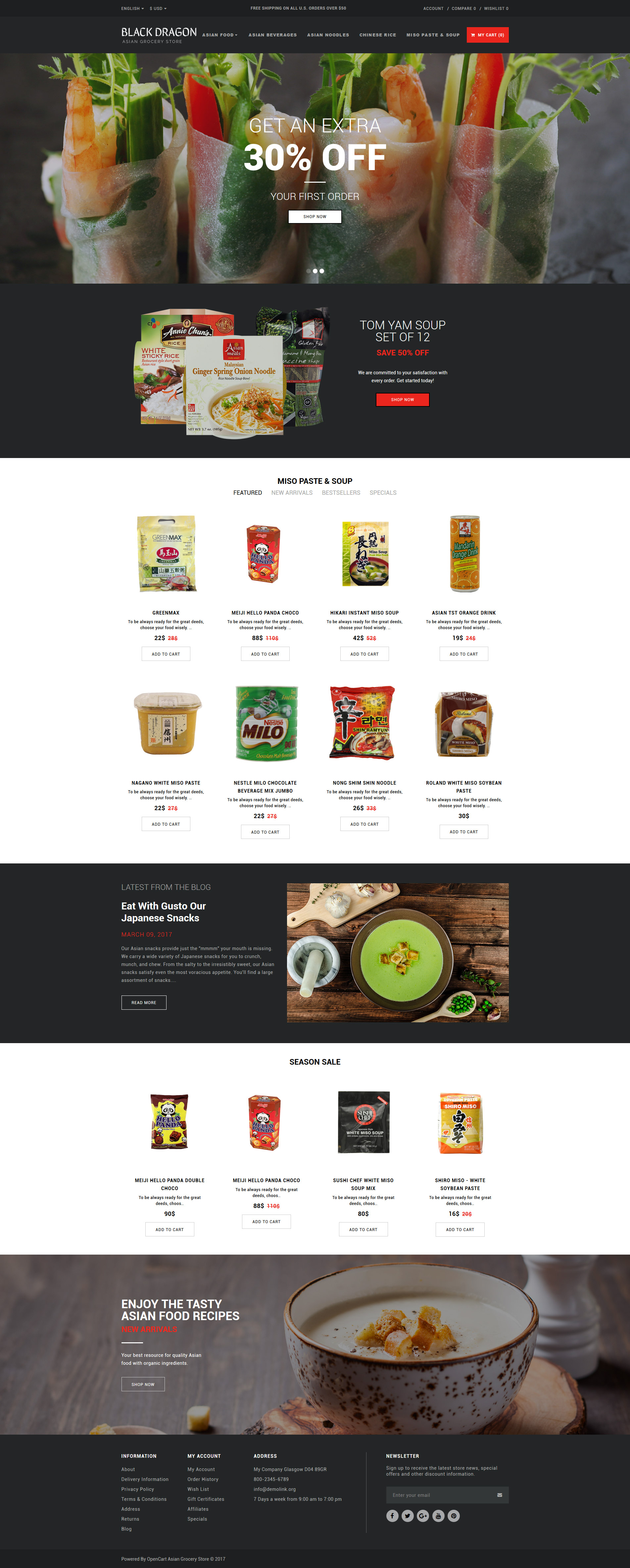 Grocery store templates archives zemez opencart for Opencart bookstore template