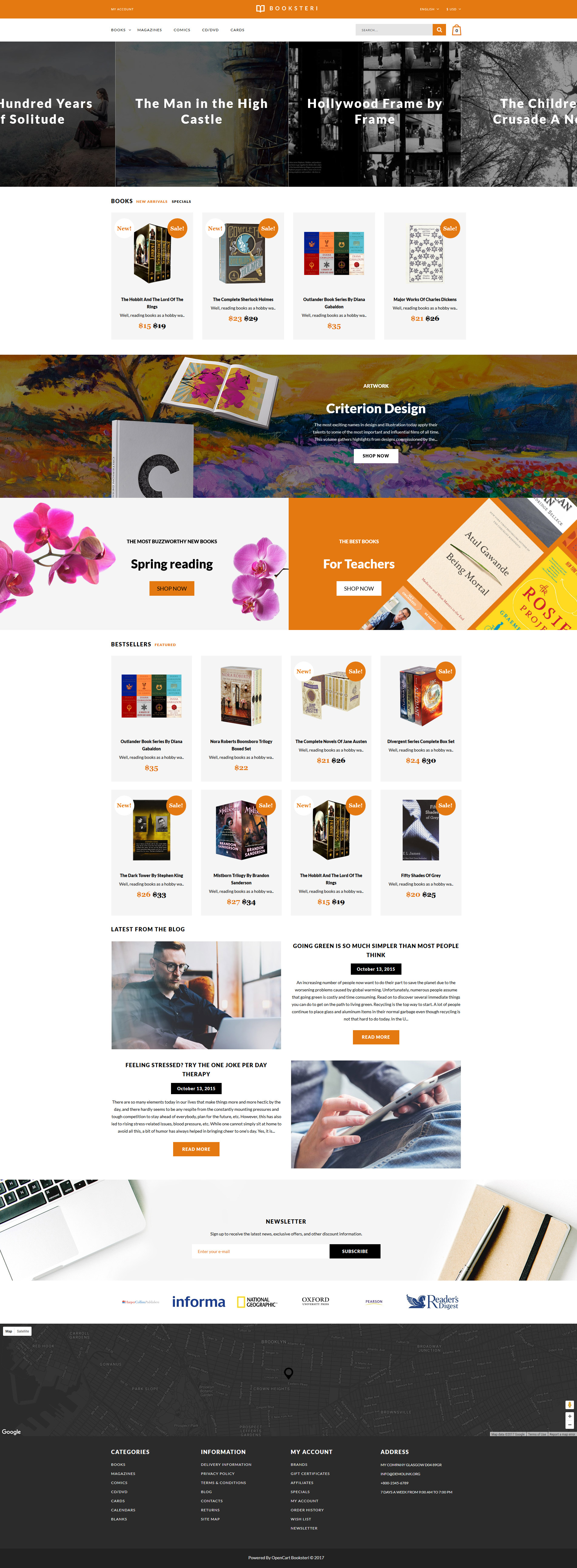 Education books archives zemez opencart for Opencart bookstore template