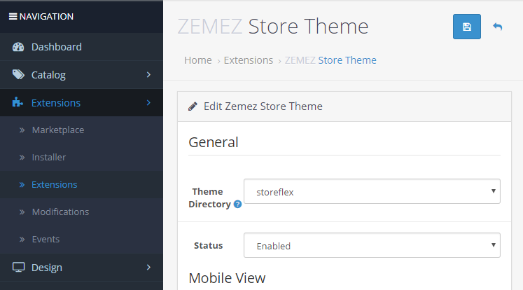 OpenCart 2/3 x  How to install a theme over the existing