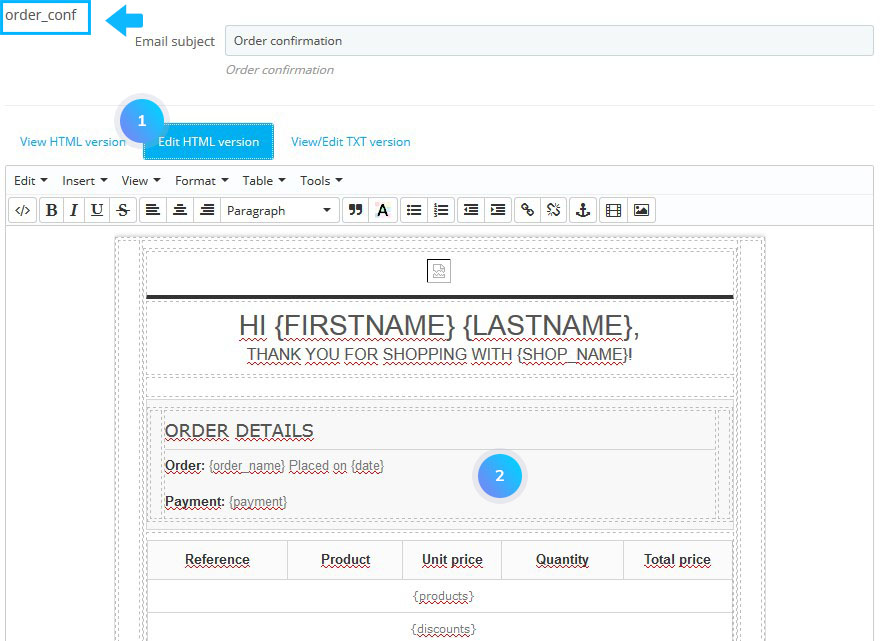 PrestaShop 1 6 x  How to edit order confirmation and registration