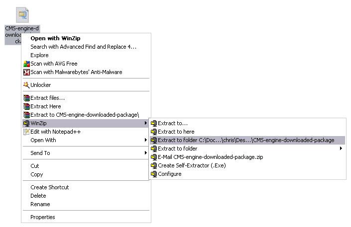 Unzip a template (Windows OS) - Zemez PrestaShop