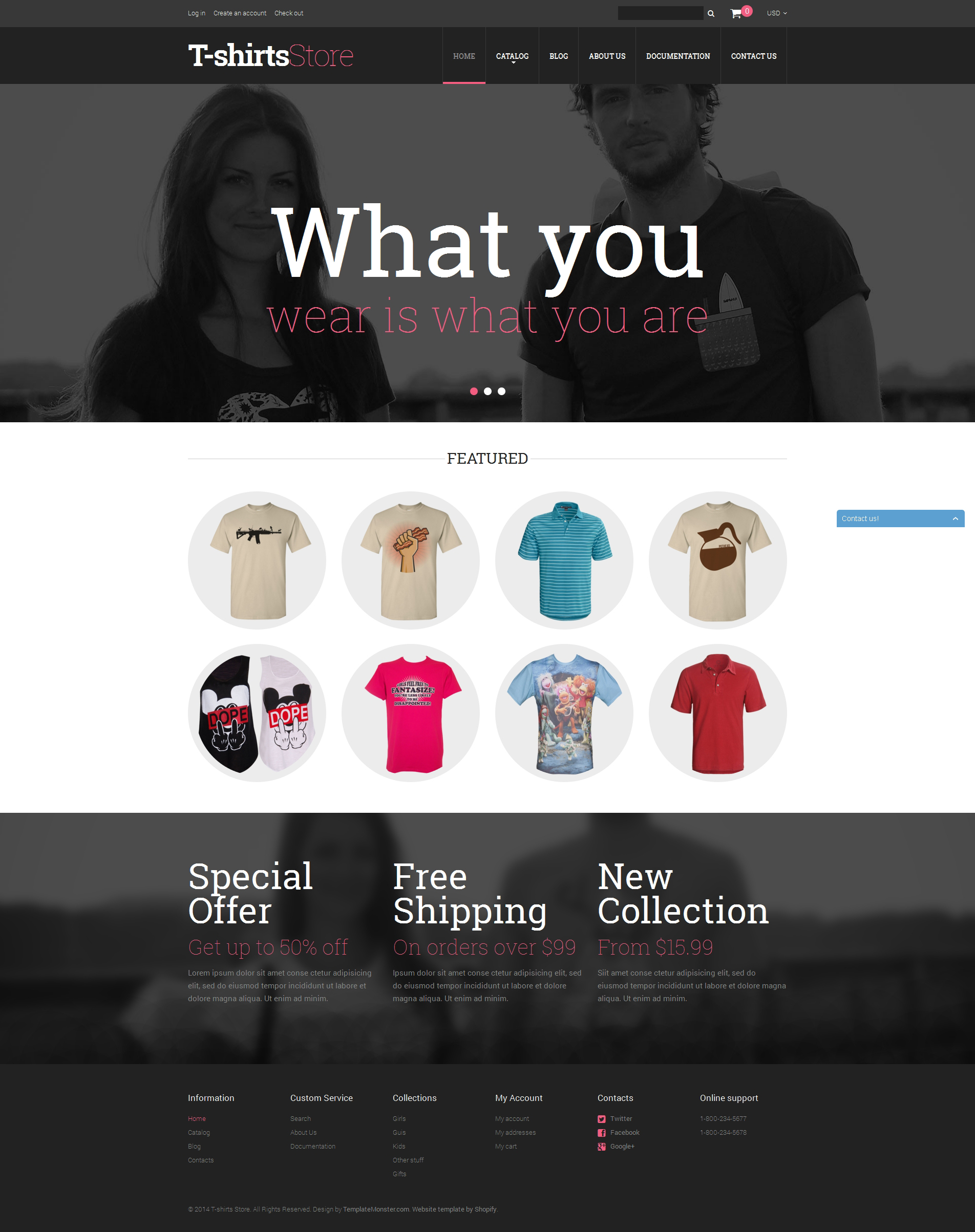 T Shirt Shop Templates Archives Zemez Shopify