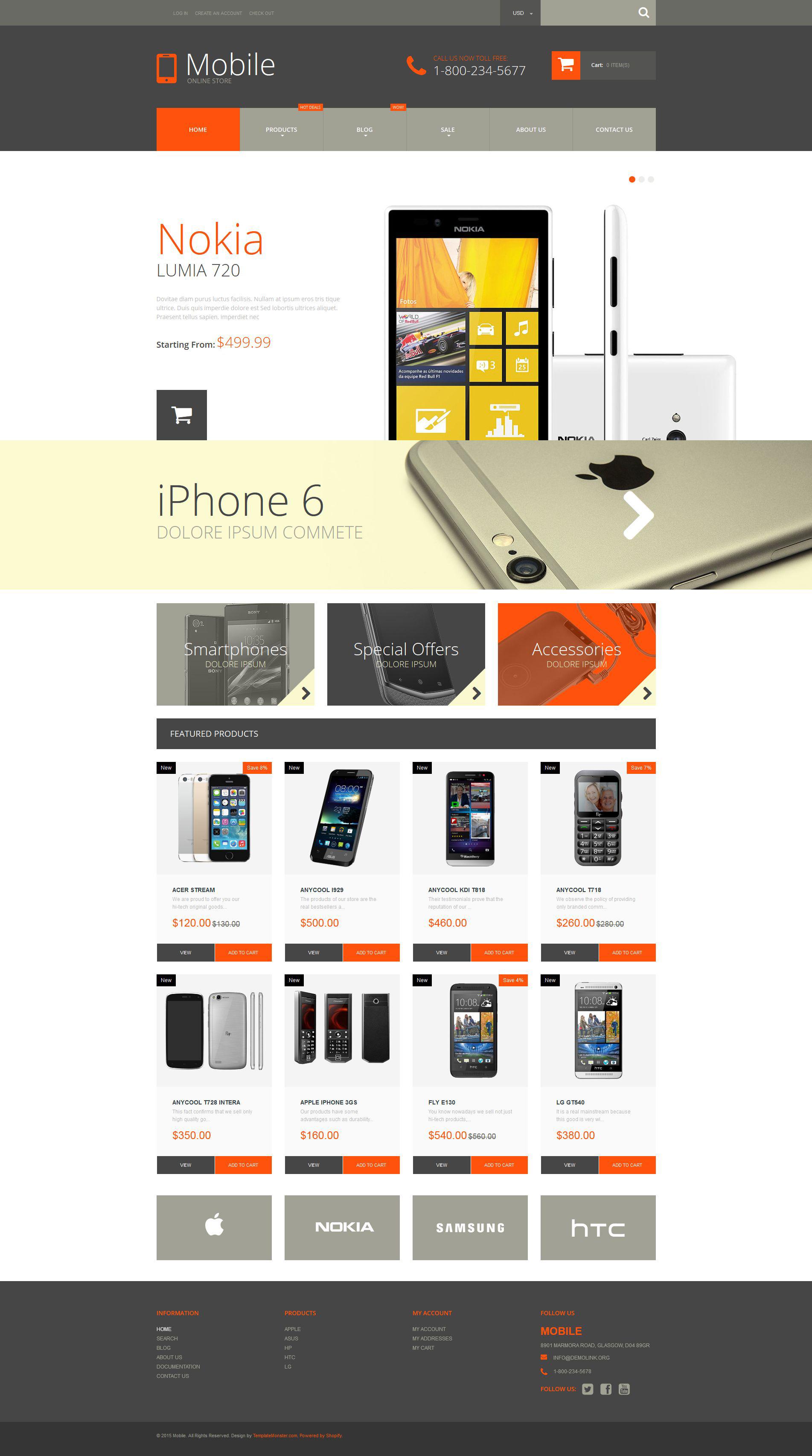 Mobile Store Templates Archives Zemez Shopify