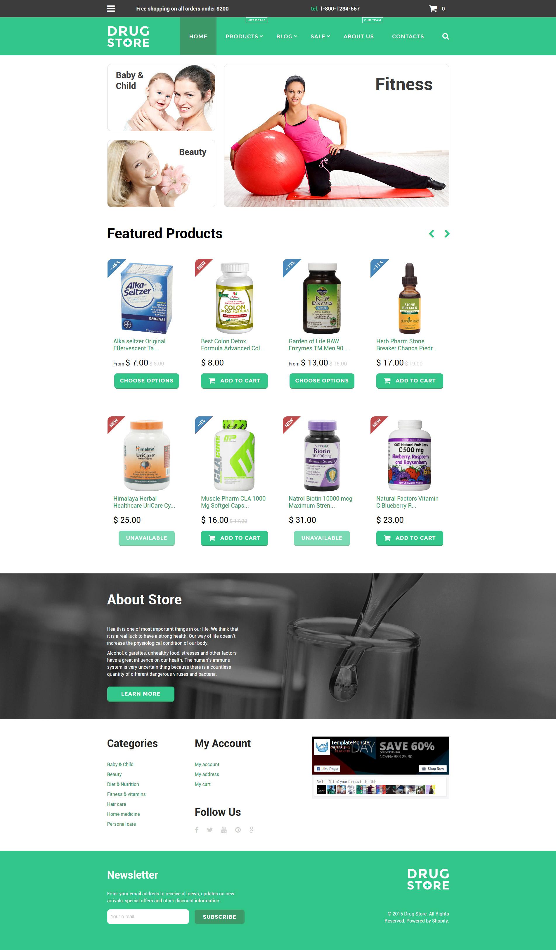 Drug Store Templates Archives - Zemez Shopify