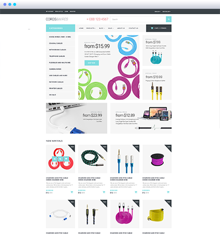 Cords and Wires Shopify Theme