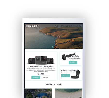 Drone and Go Pro Shopify Template