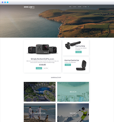 Drone and Go Pro Shopify Theme