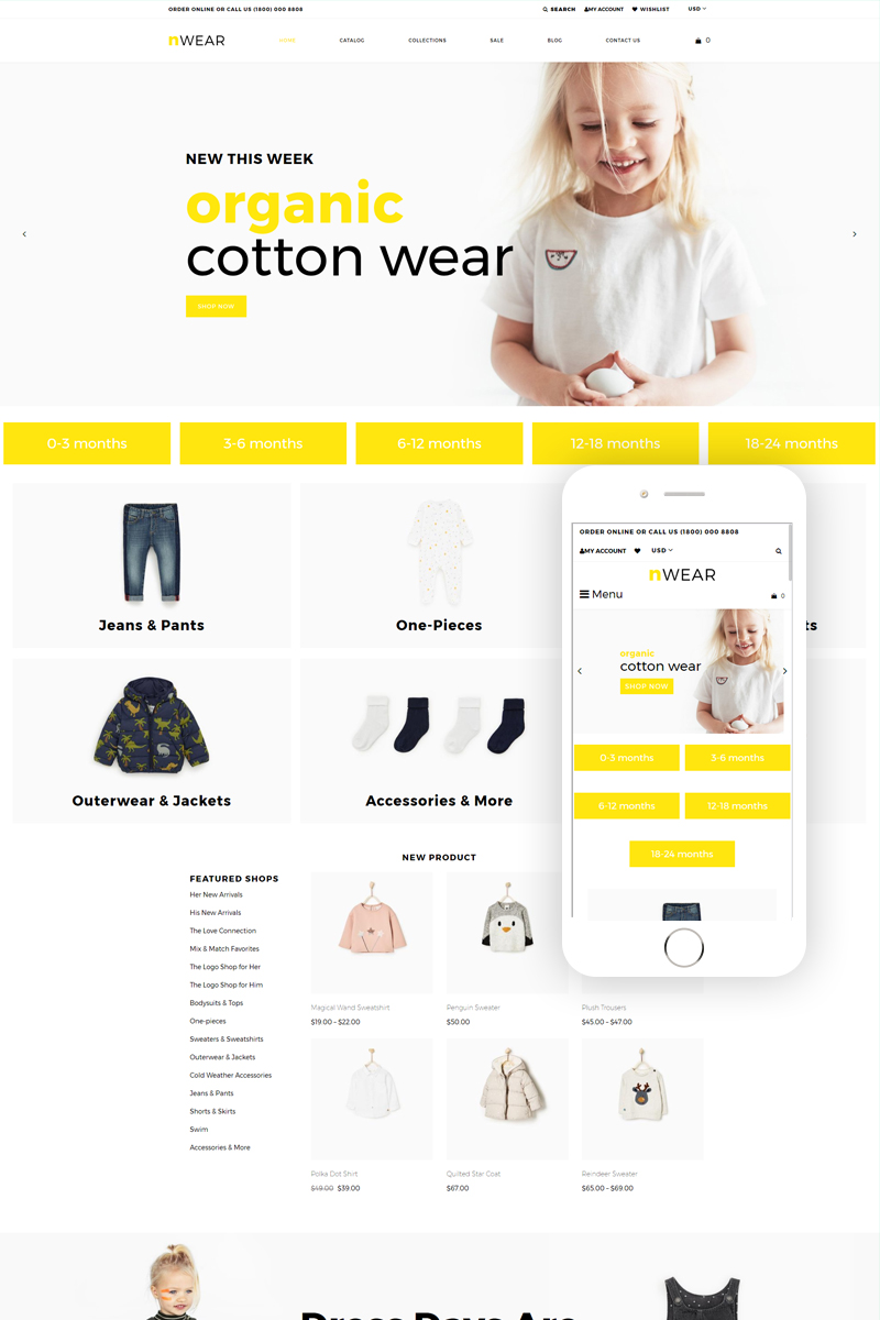 7808786be Baby Store Templates Archives - Zemez Shopify