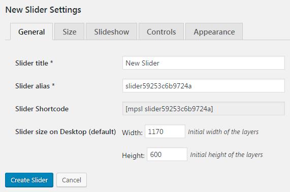 MotoPress slider settings general