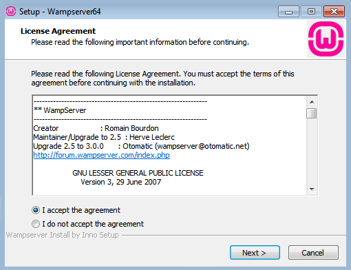 how to install WAMP