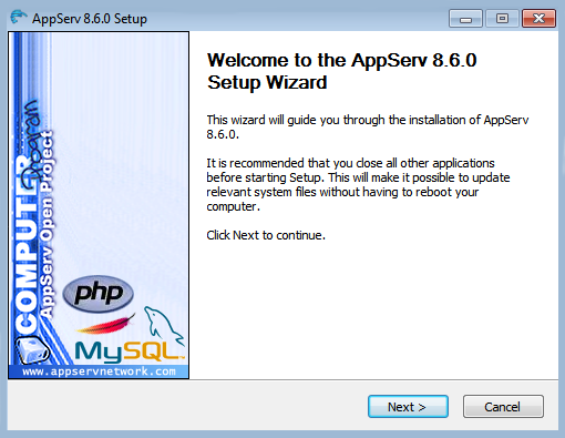 how to install App Serv