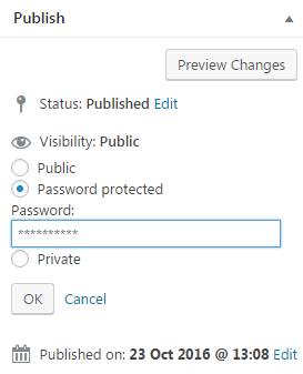 protect posts using password