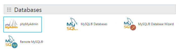 exporting MySQL database using GoDaddy