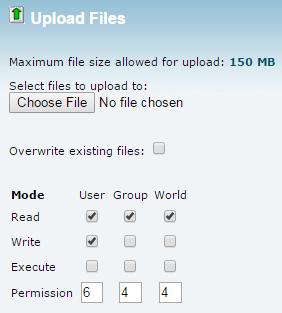 upload WordPress uploading files