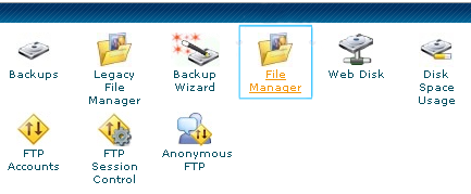 upload files to server cPanel