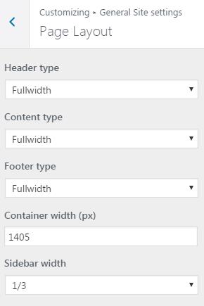 Page Layout Customizer