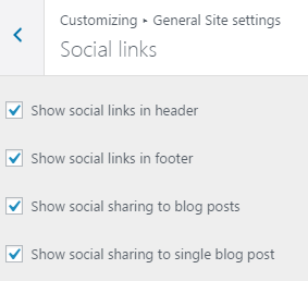 Social Links Customizer