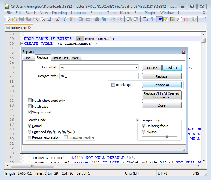 Tutorials -How to Change Database Prefixes and Import SQL