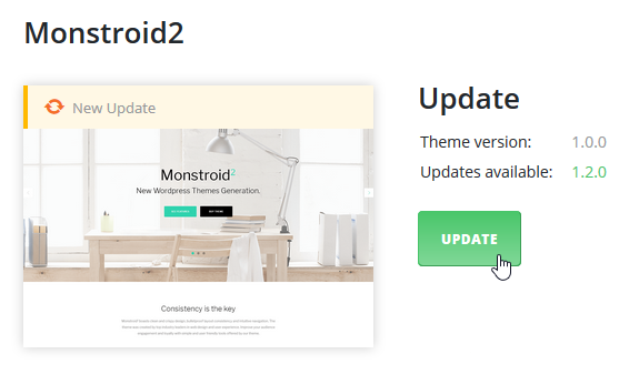 update Monstroid 2 main theme