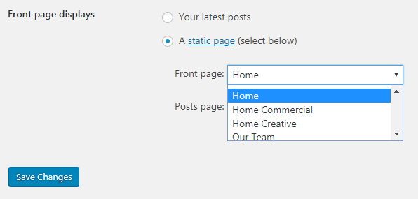 replace home blog page