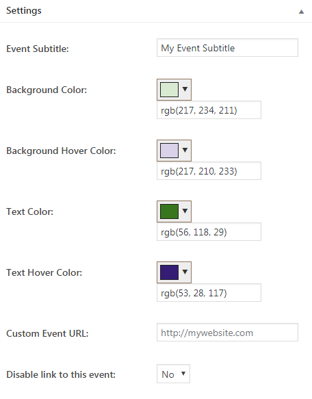 manage events using