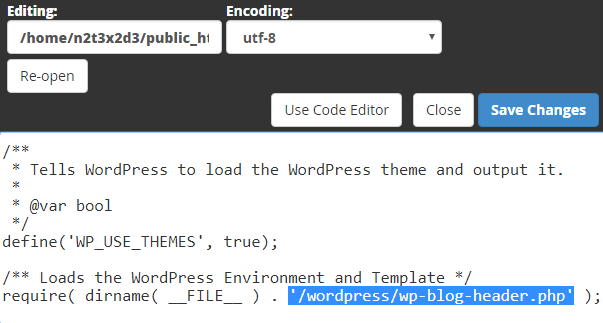 "remove ""/wordpress/"" part from website's address"