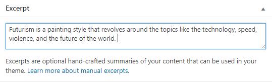 format post excerpt