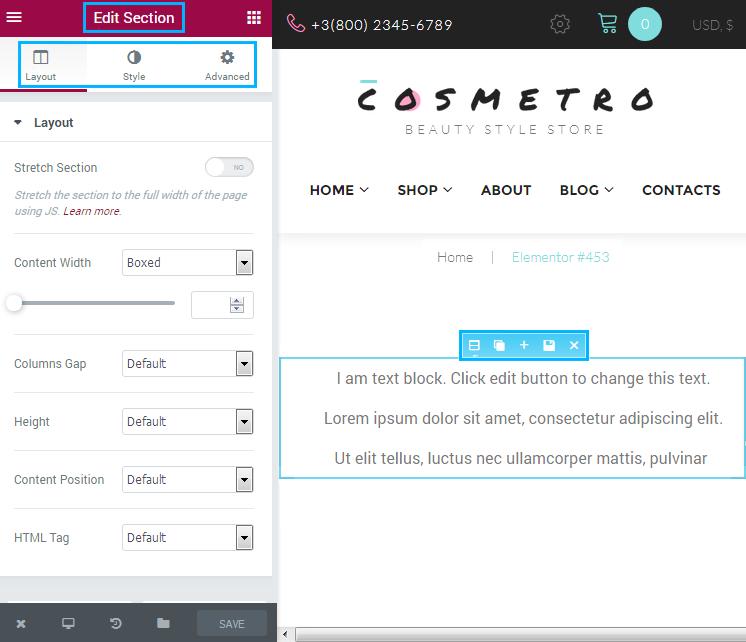 Tutorials -How to Edit Pages Using Elementor - Zemez WordPress