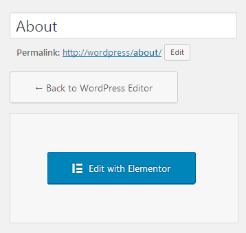 Edit Pages Using Elementor