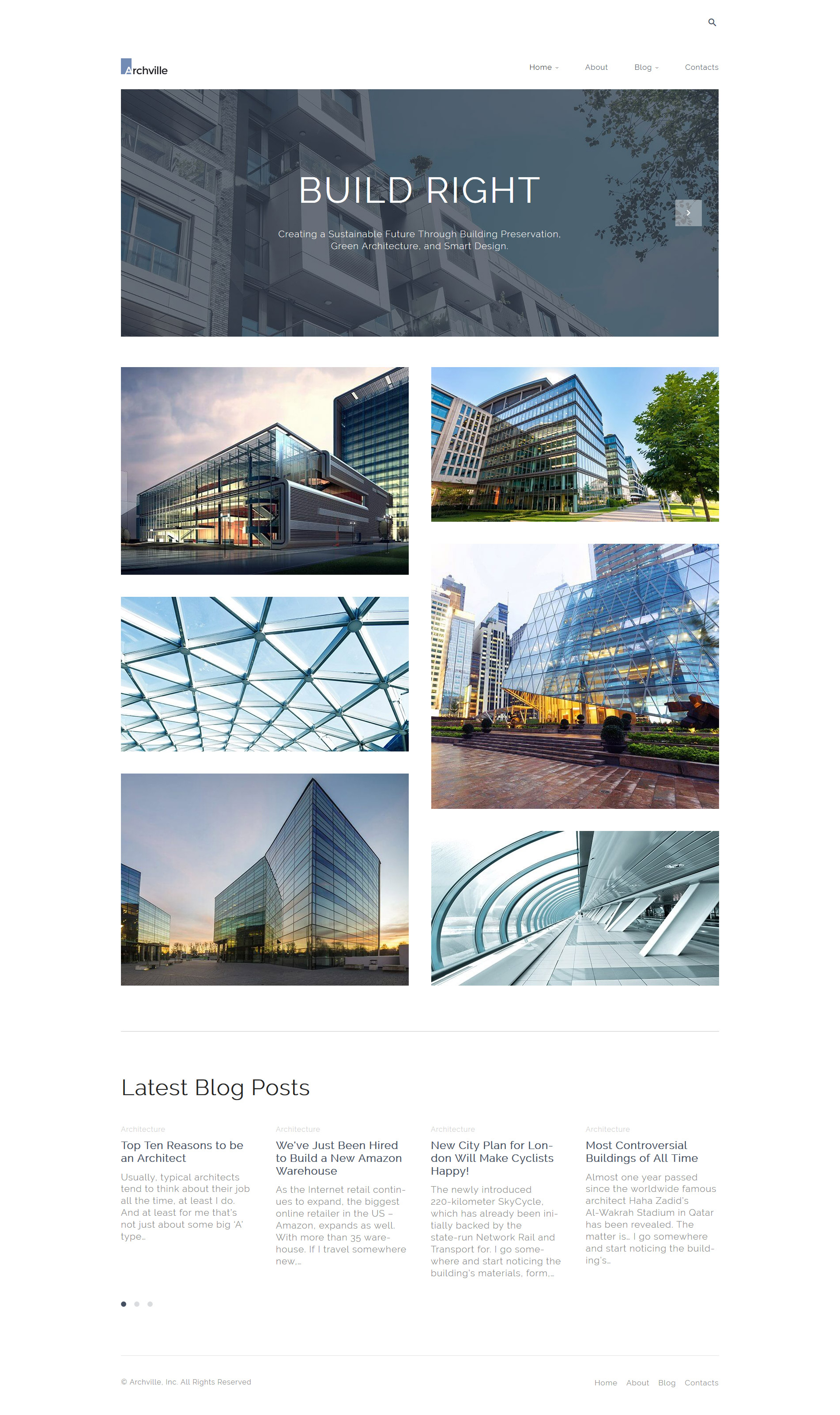 Architecture templates archives zemez wordpress for Architecture wordpress