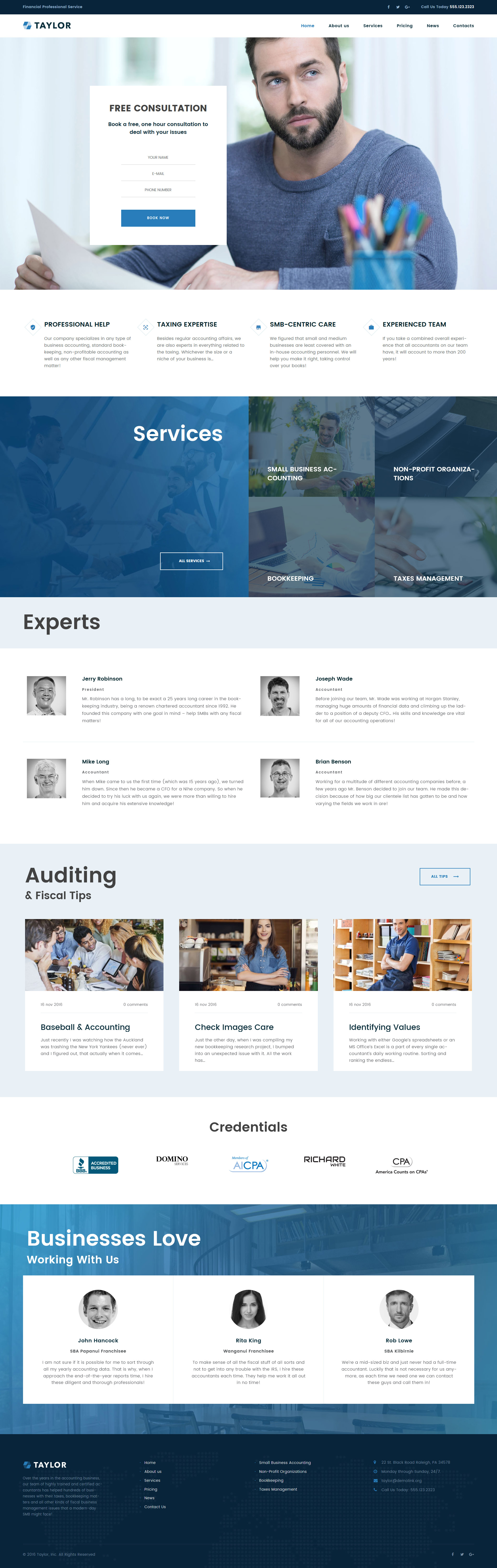 Accounting Website Templates Archives - Zemez WordPress