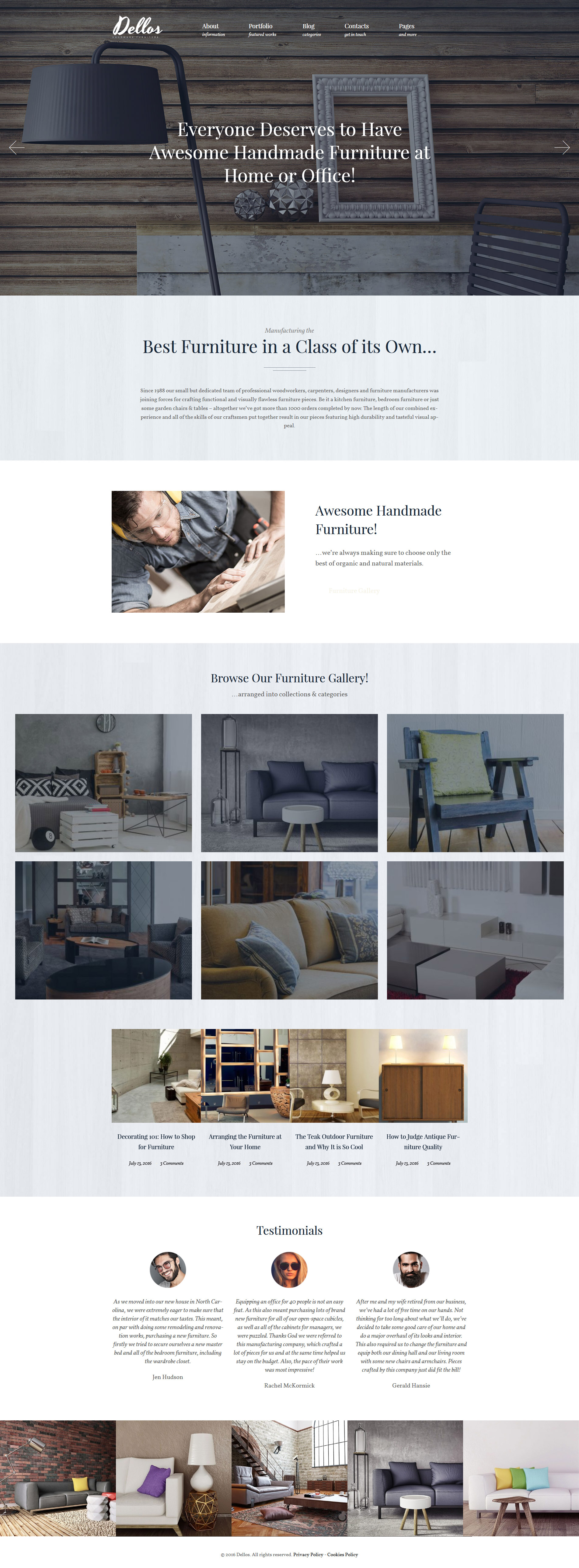 Furniture Templates Archives Page 2 Of 2 Zemez Wordpress