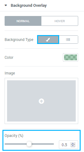 change background color elementor
