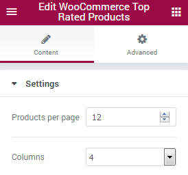 WooCommerce Top Rated Products JetElements Module for Elementor