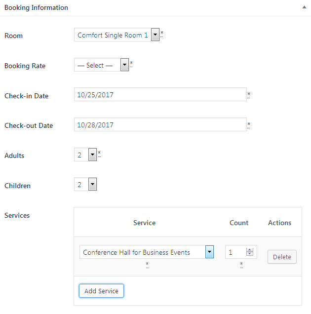 Managing Bookings Using Hotel Booking
