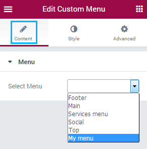 How to Add Custom Menu Using Custom Menu Module for Elementor