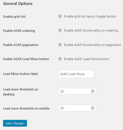 TM WooCommerce Ajax Filters Settings Overview