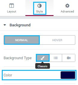 edit menu with elementor